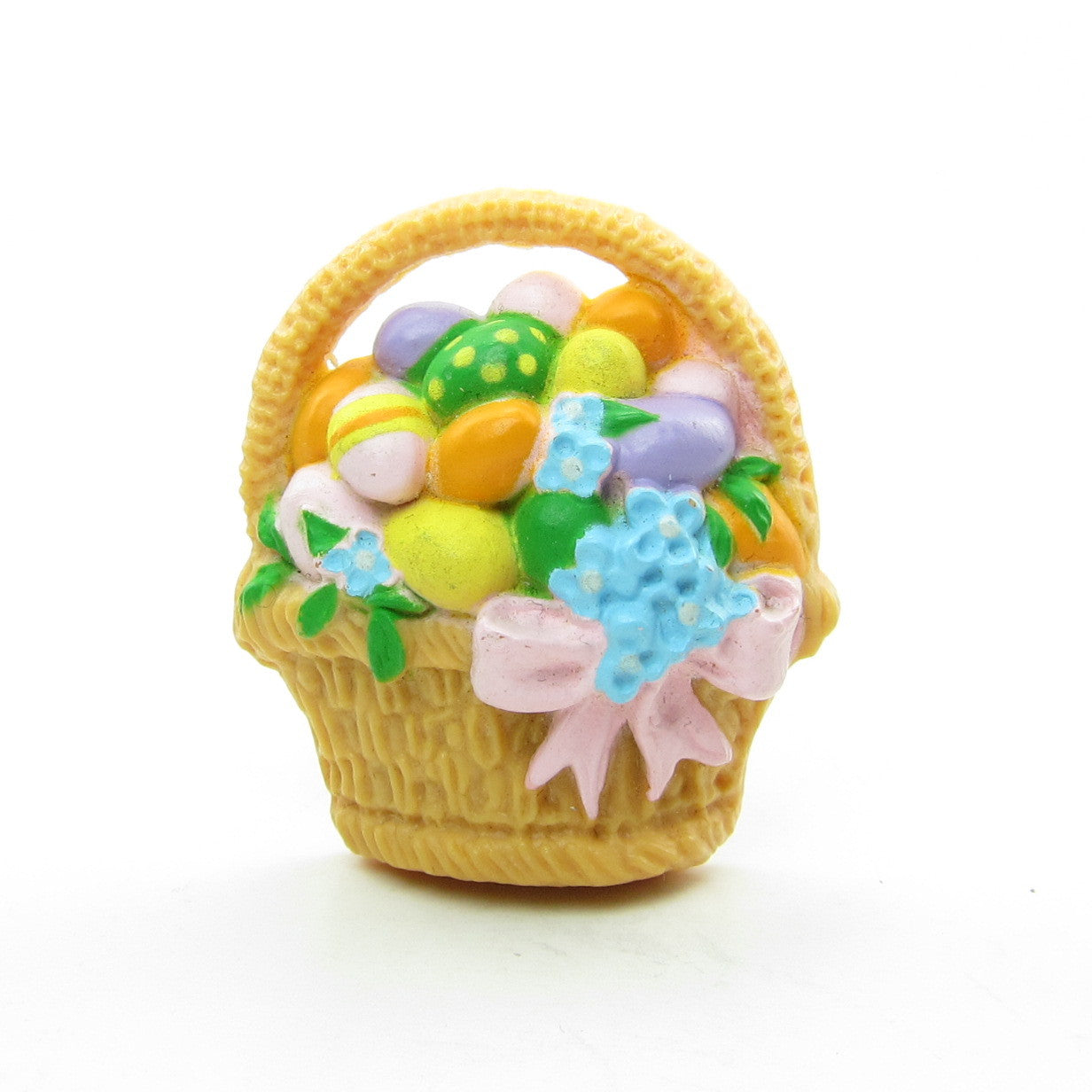 Easter basket with eggs Hallmark Cards vintage lapel pin