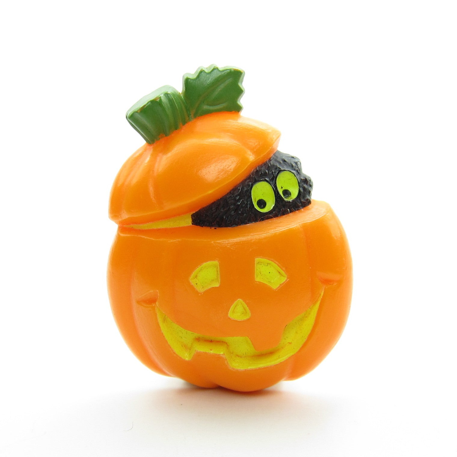 Jack o lantern halloween pumpkin pin with monster eyes
