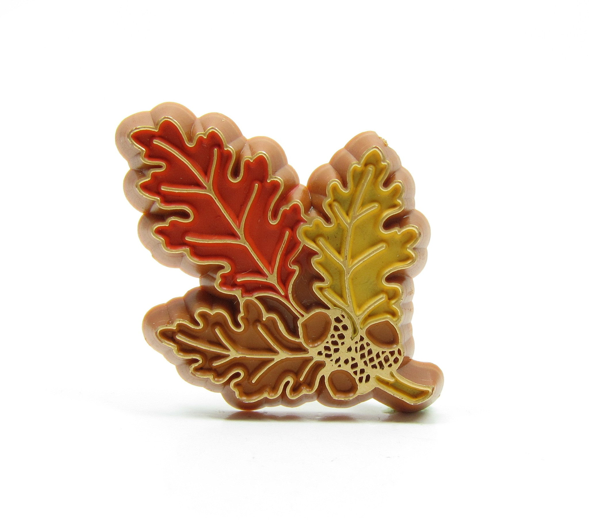 Hallmark oak leaves and acorns lapel pin