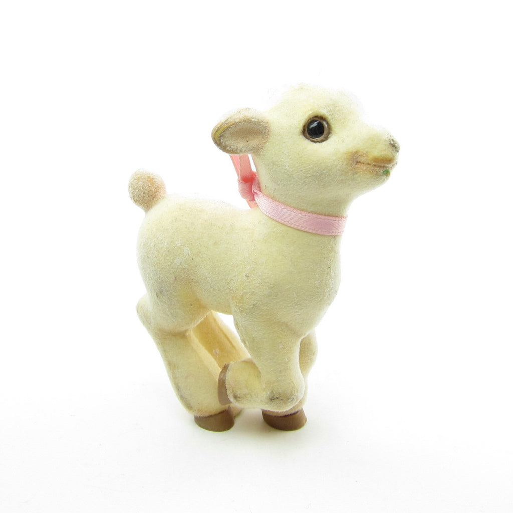 Flocked Lamb Vintage Hallmark Merry Miniatures Figurine