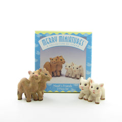 Hallmark Merry Miniatures Noah's Friends camels and lambs miniature figurines