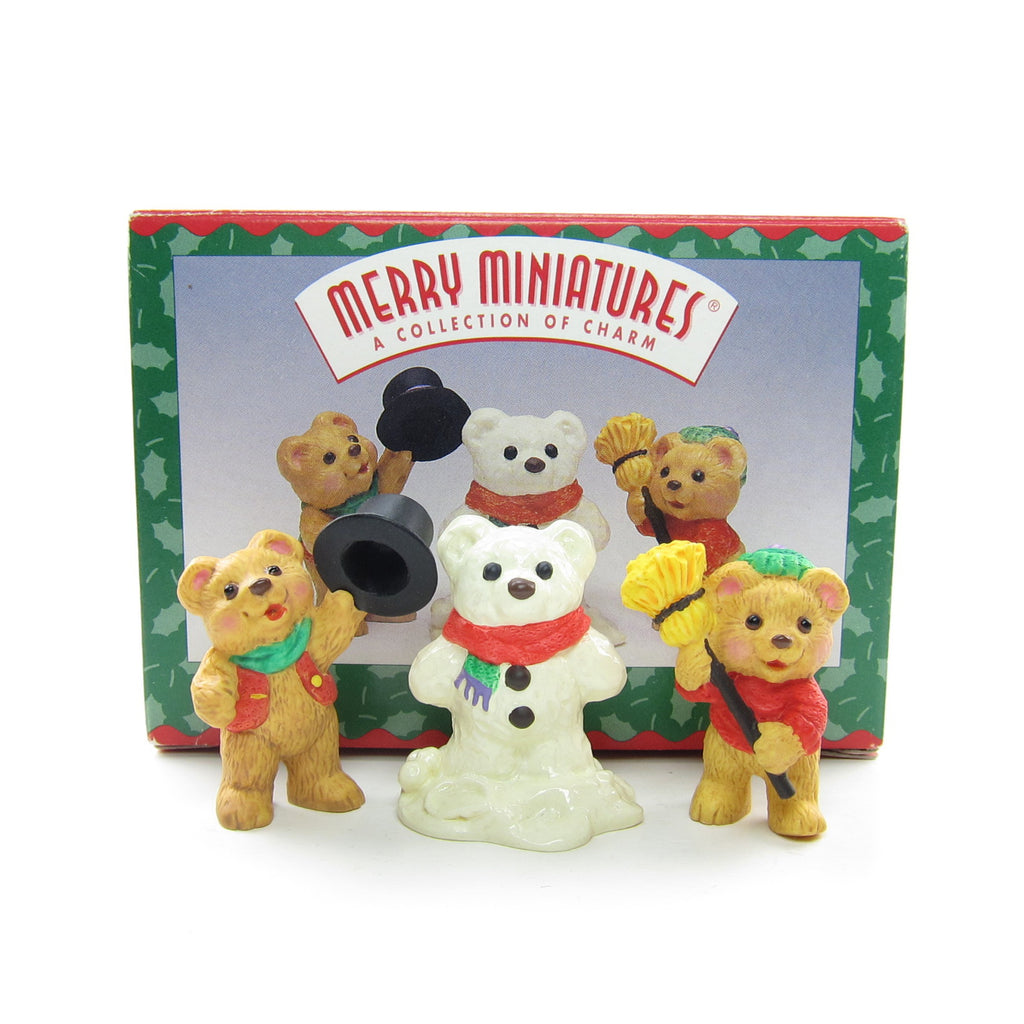 Hallmark Snowbear Season 1997 Merry Miniatures Figurines