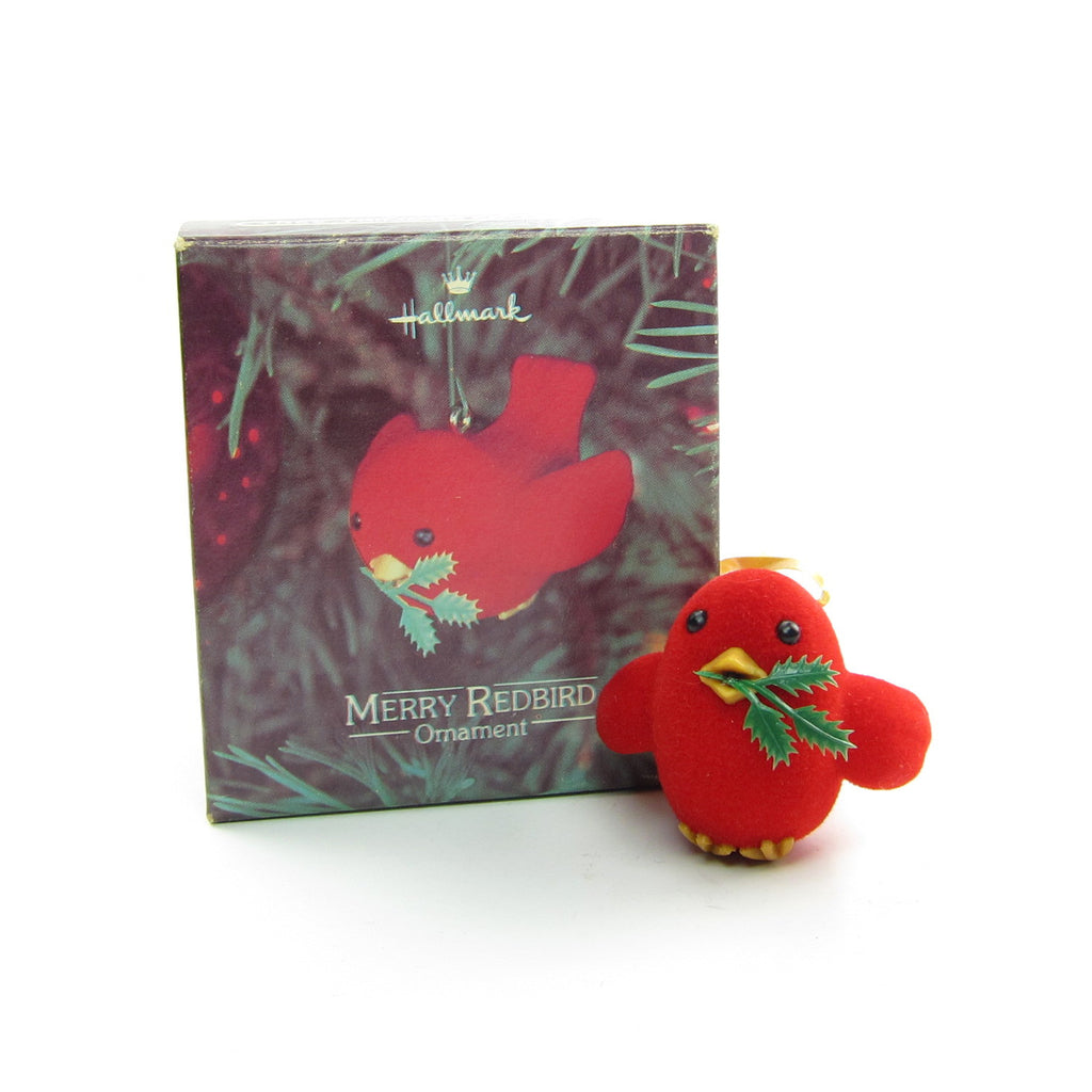 Merry Redbird Ornament Vintage Hallmark 1980 Christmas Tree Decoration