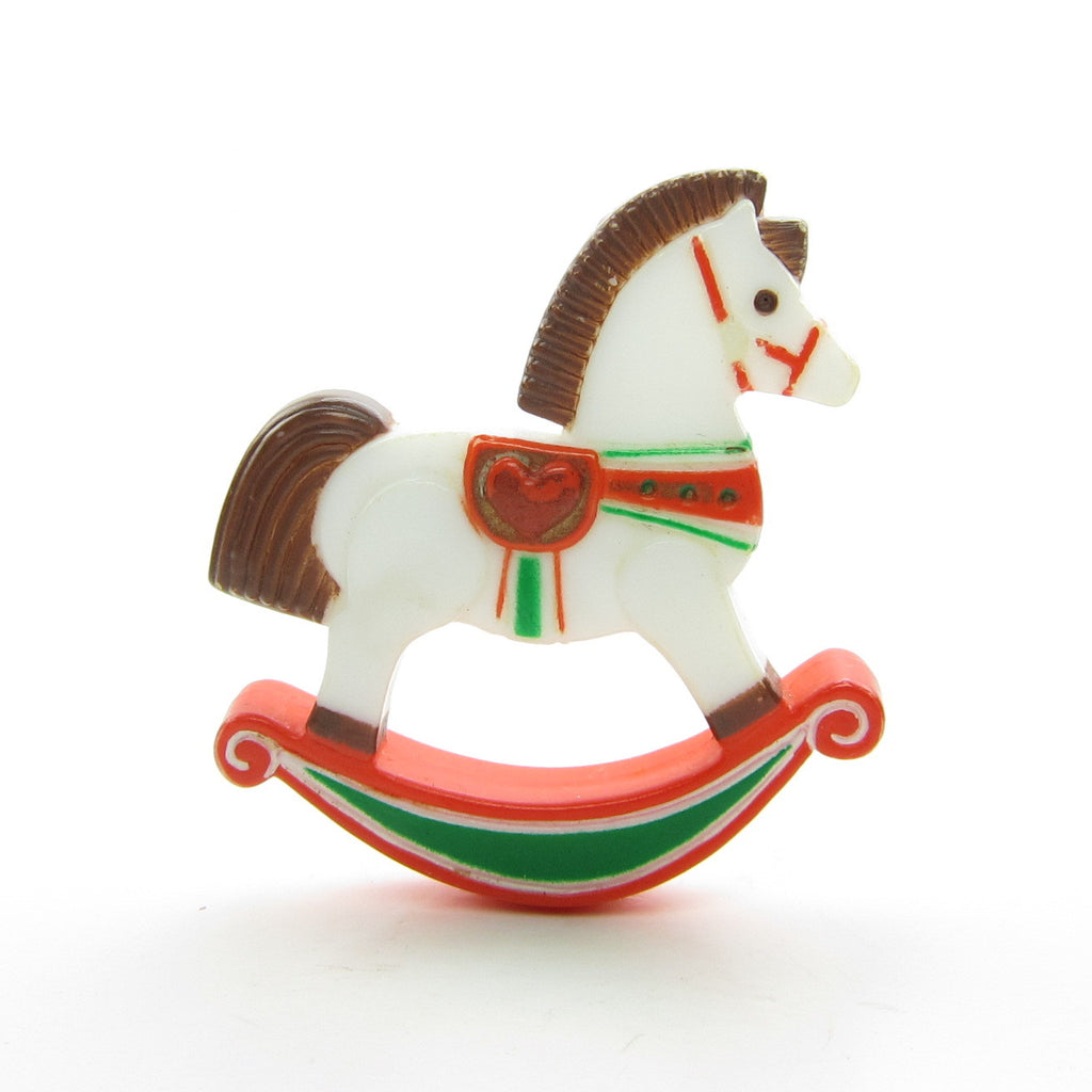 Rocking Horse Pin Vintage 1982 Hallmark Christmas Lapel