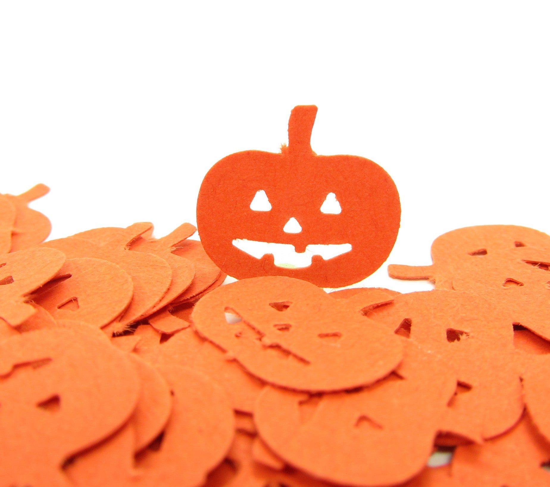 Orange Pumpkin Jack-O-Lantern Confetti