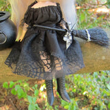 Black spider cobweb skirt for Blythe or Pullip witch costume