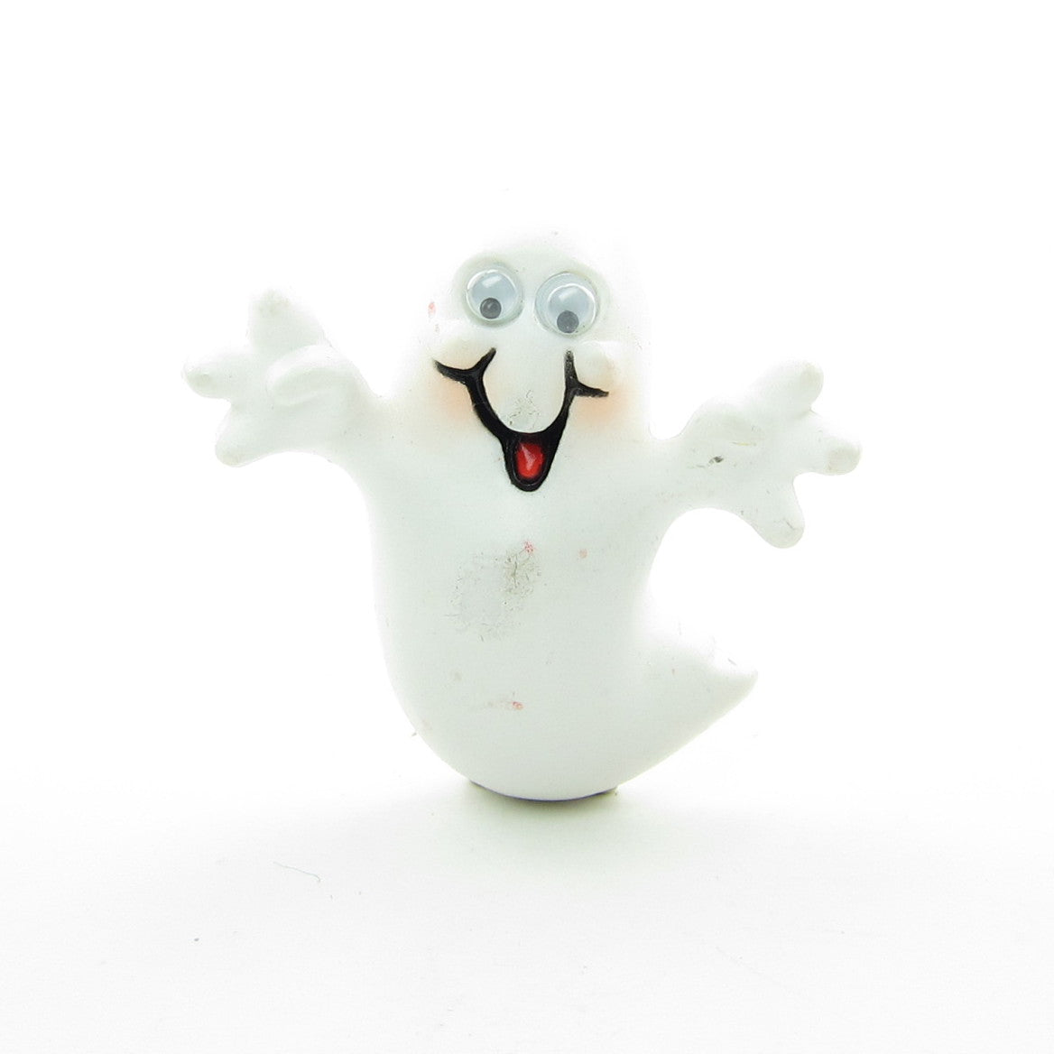 Halloween ghost pin with googly eyes