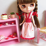 Blythe doll strawberry dress