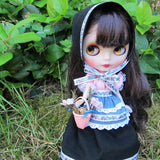 Handmade traditional folk dress for Blythe