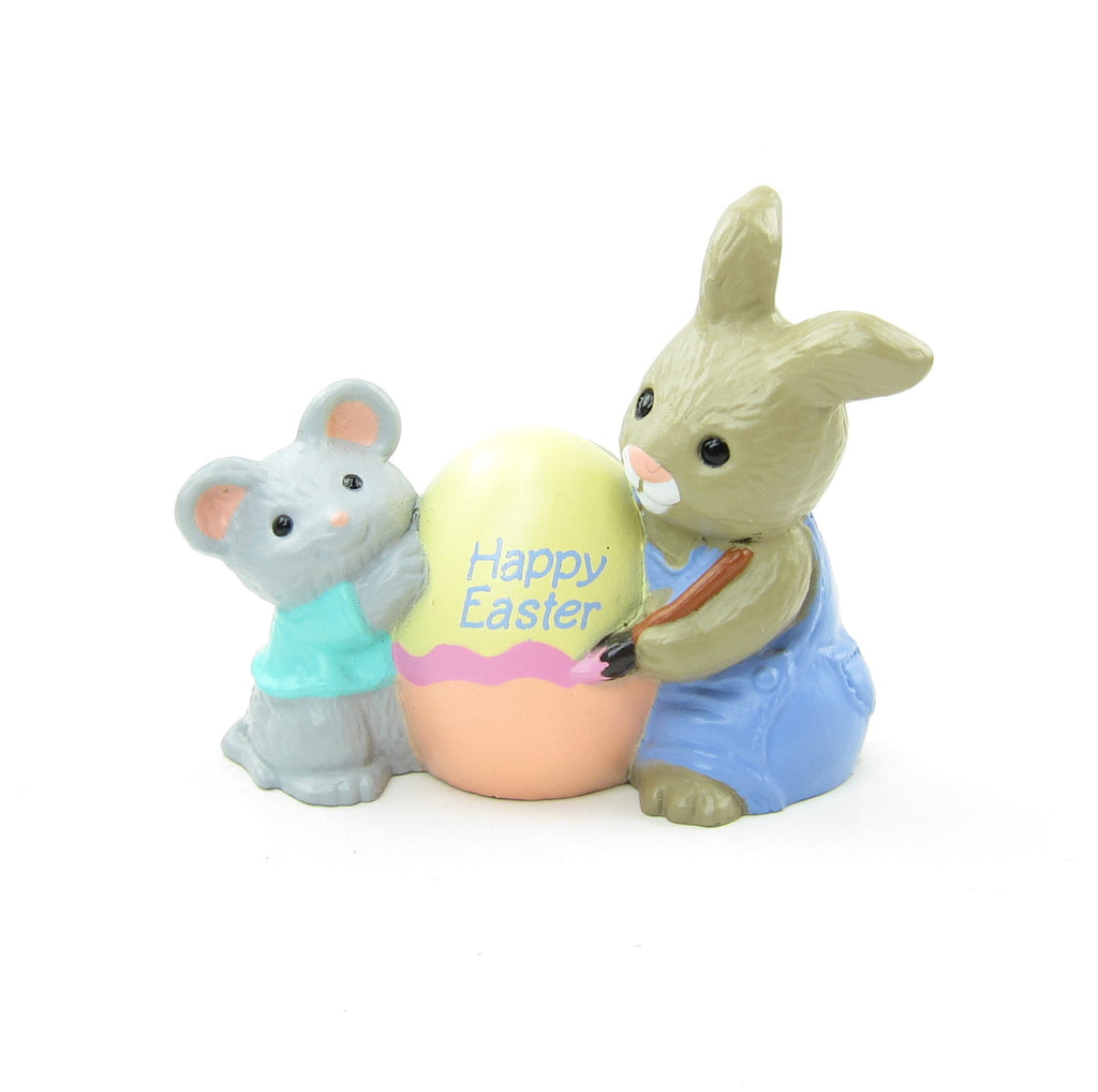 Happy Easter Mouse & Bunny Vintage Hallmark Merry Miniatures