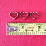 Dollhouse miniature heart cookie cutters - large