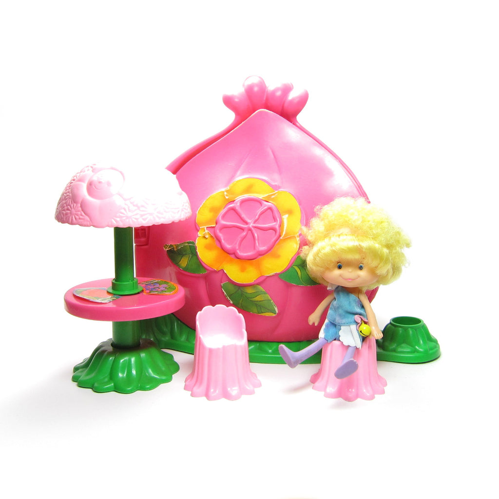 Flower House Play Set with Herself the Elf Doll, Table, Chairs