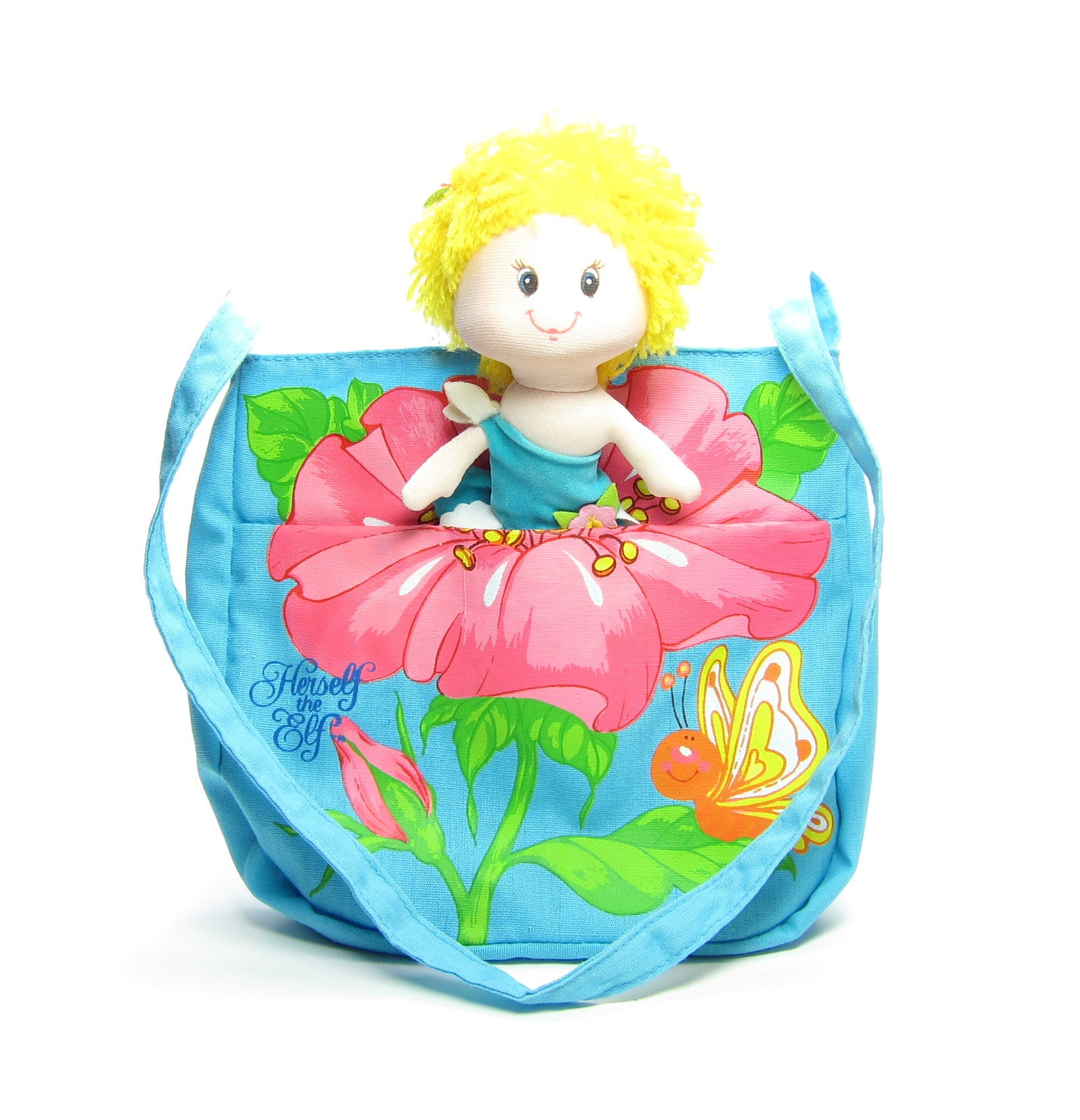 Herself the Elf children's purse with cloth doll