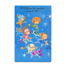 Sisters are like snowflakes vintage Herself the Elf Christmas card