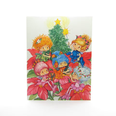 Christmas Herself the Elf holiday greeting card with elves and tree