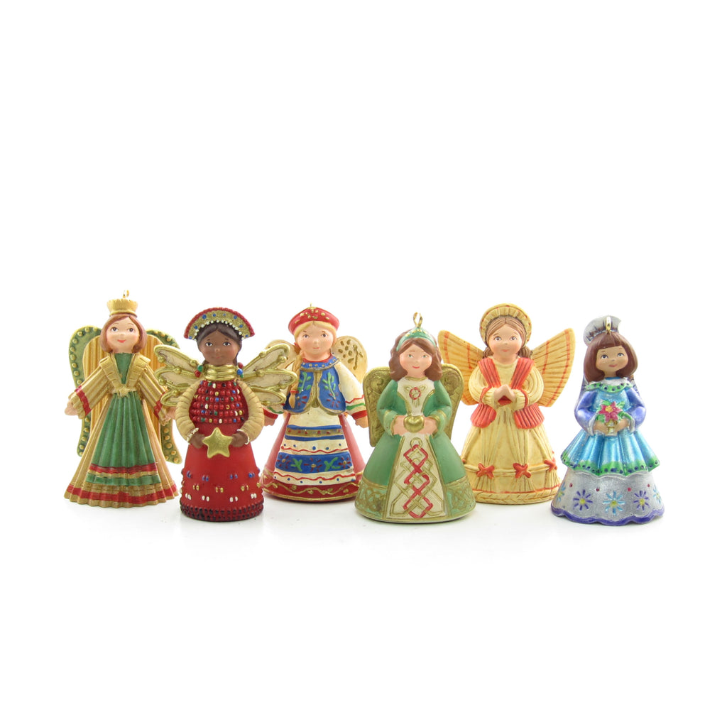 Joy to the World Angels 2007 Hallmark Set of 6 Miniature Ornaments