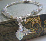 Labradorite Bracelet with Sterling Silver Clasp