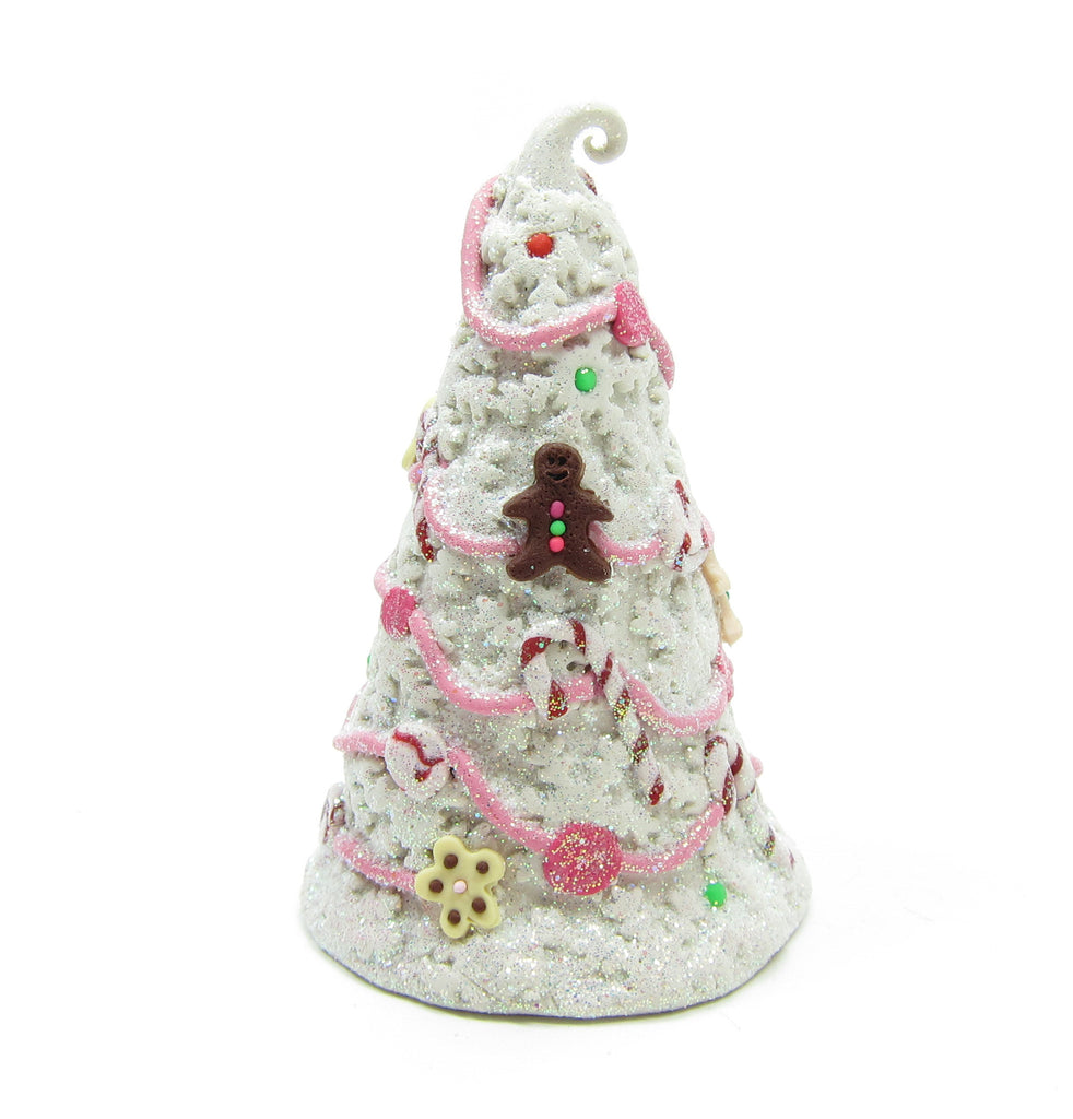 Christmas Candy Tree Polymer Clay Miniature Figurine with Cookies, Candy Canes, Snowflakes