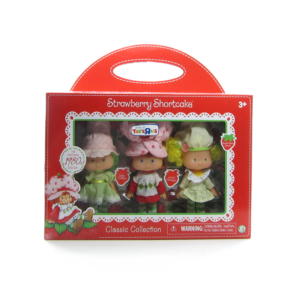 Lime Chiffon, Strawberry Shortcake & Lemon Meringue Reissue 1980s Design Classic Doll Set