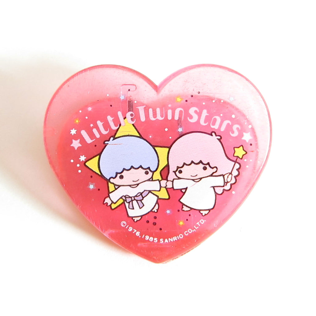 Little Twin Stars 1985 Large Pink Heart Clip