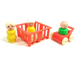 Fisher-Price Little People playpen and stroller toys