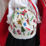 Little Red Riding Hood apron with blouse and skirt