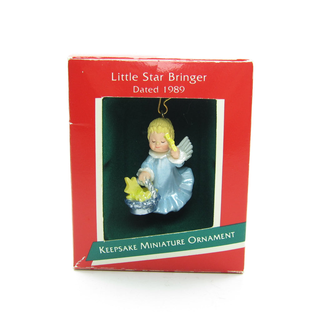 Angel Christmas Ornament Vintage Hallmark 1989 Little Star Bringer