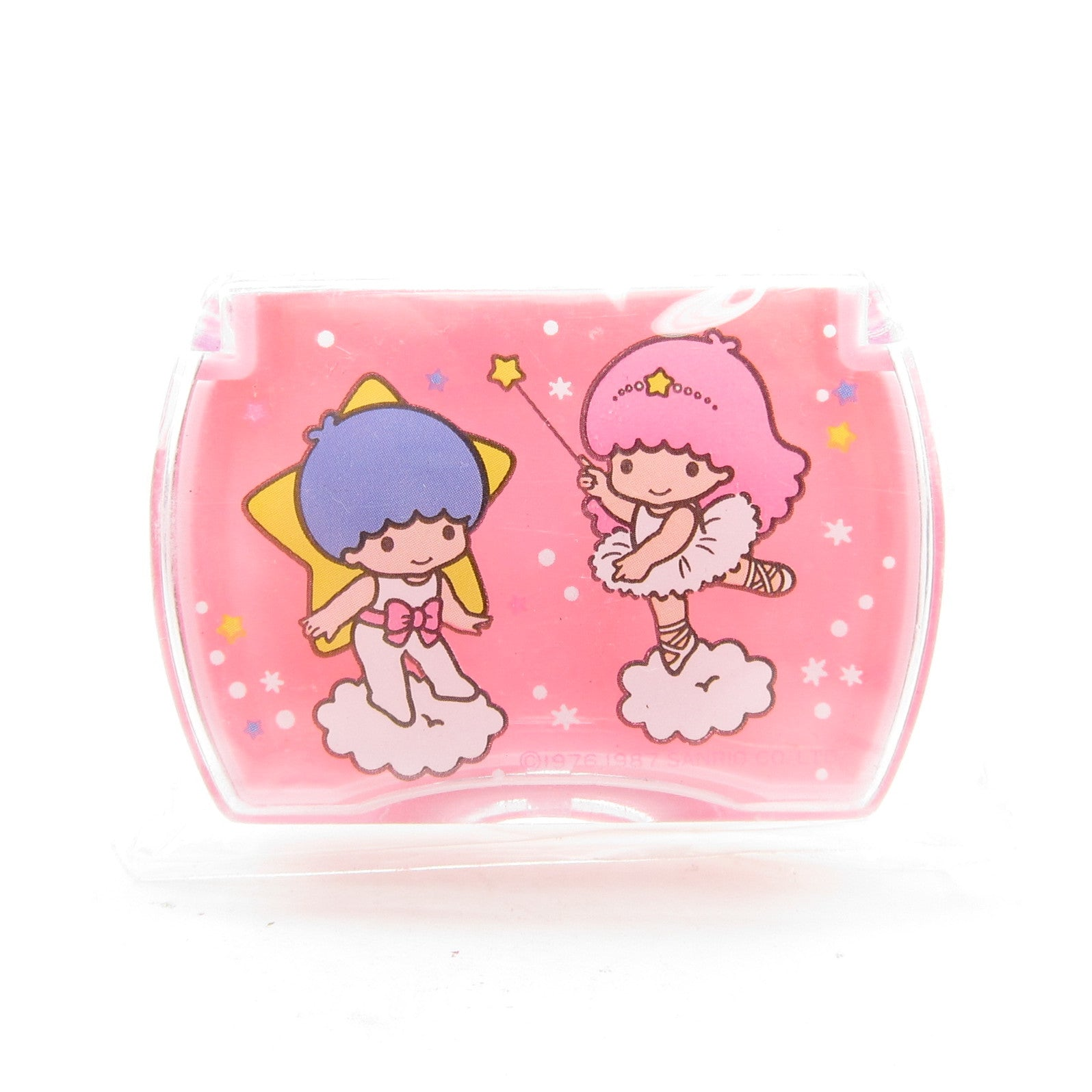 Little Twin Stars miniature plastic container or pill box