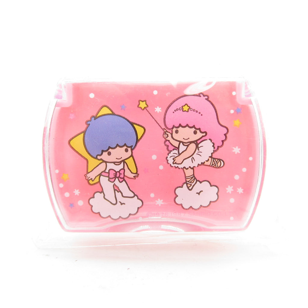 Little Twin Stars 1987 Miniature Container or Pill Box
