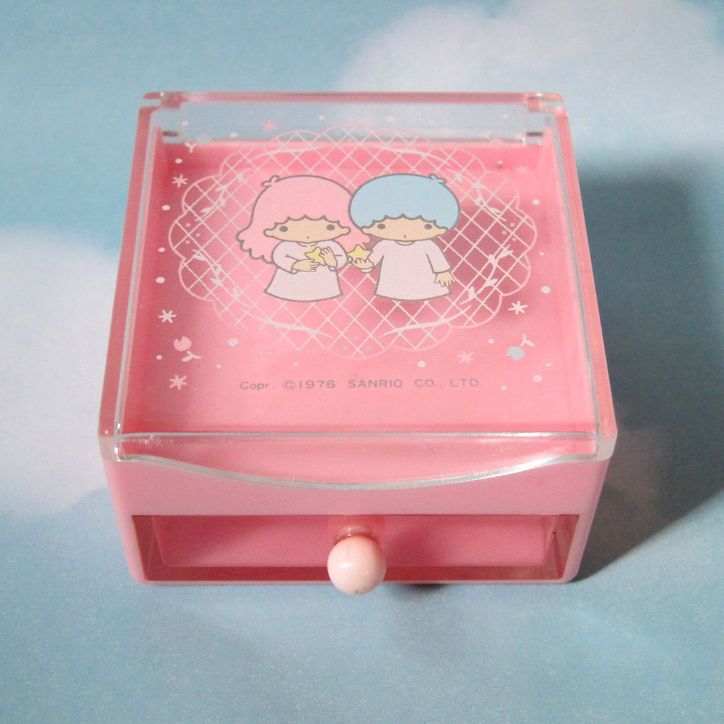 Little Twin Stars Vintage Miniature Trinket Box with Drawer and Lid