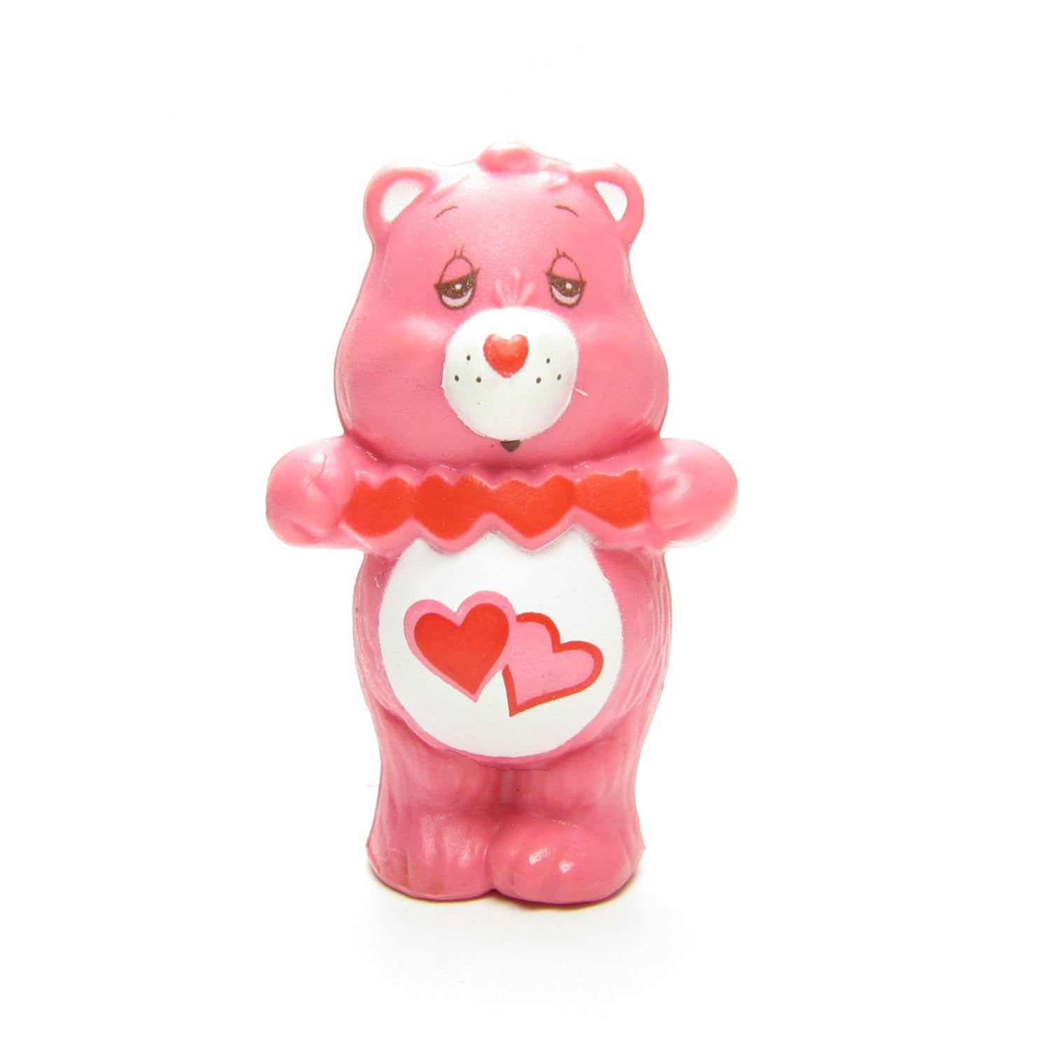 Love-a-lot Bear Holding Cut-Out Hearts miniature figurine