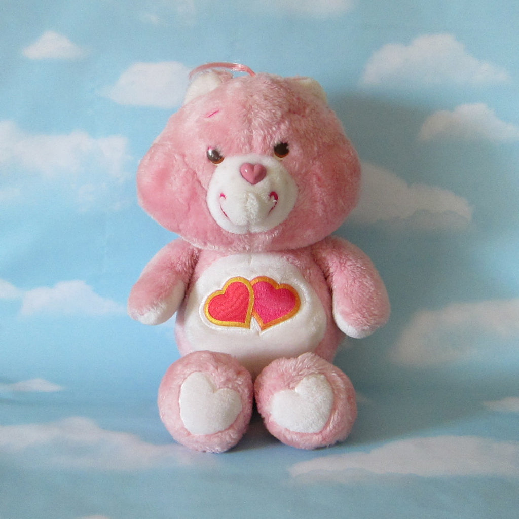 "Love-A-Lot Bear Plush Vintage 13"" Care Bears Stuffed Animal"