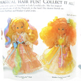 Lady LovelyLocks and Maiden CurlyCrown doll brochure