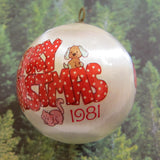 Merry Christmas 1981 Strawberry Shortcake tree ornament