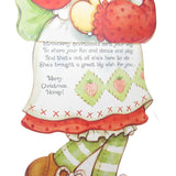 Merry Christmas Honey Strawberry Shortcake Dancing Doll card