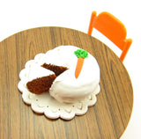 Dollhouse Scale Miniature Carrot Cake