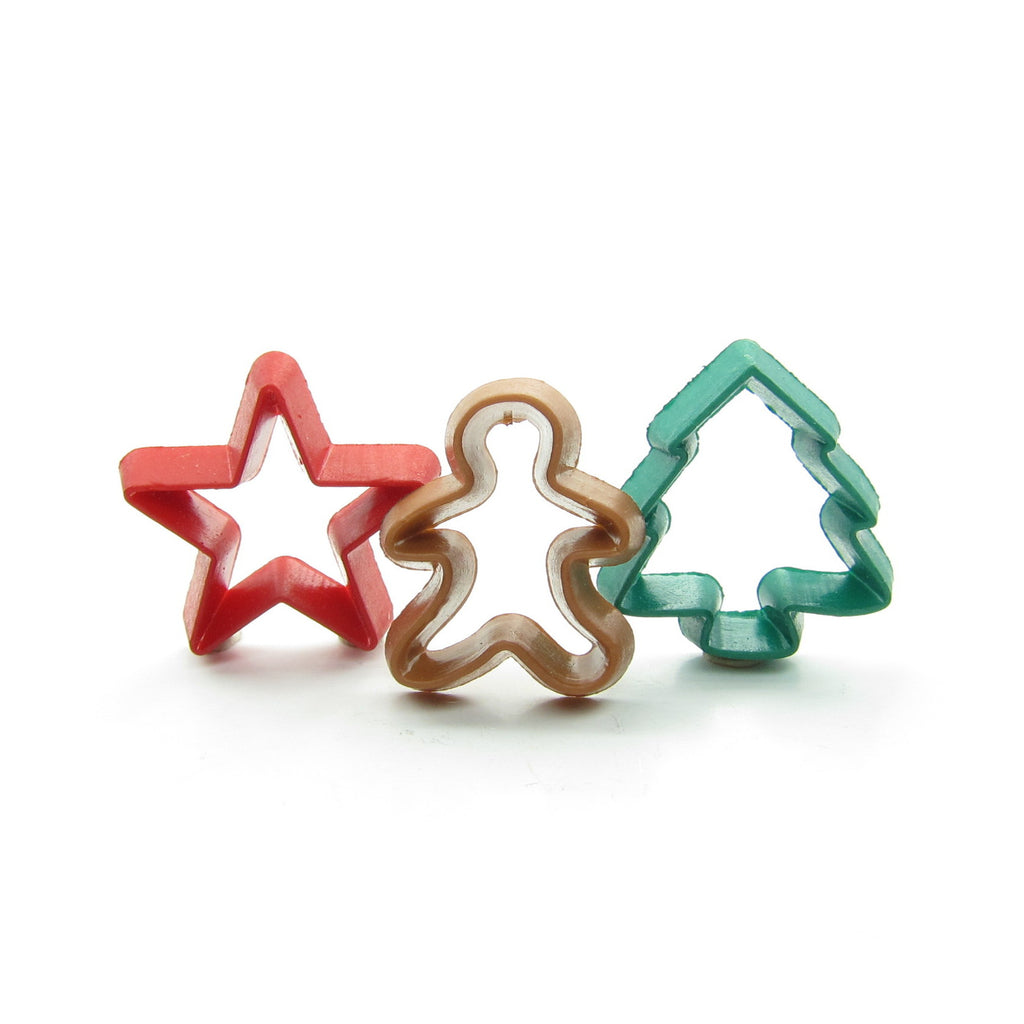 Christmas Cookie Cutters Miniature Dollhouse or Playscale Set