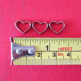 Dollhouse miniature heart cookie cutters - small