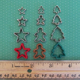 Star, gingerbread, and tree cookie cutter set
