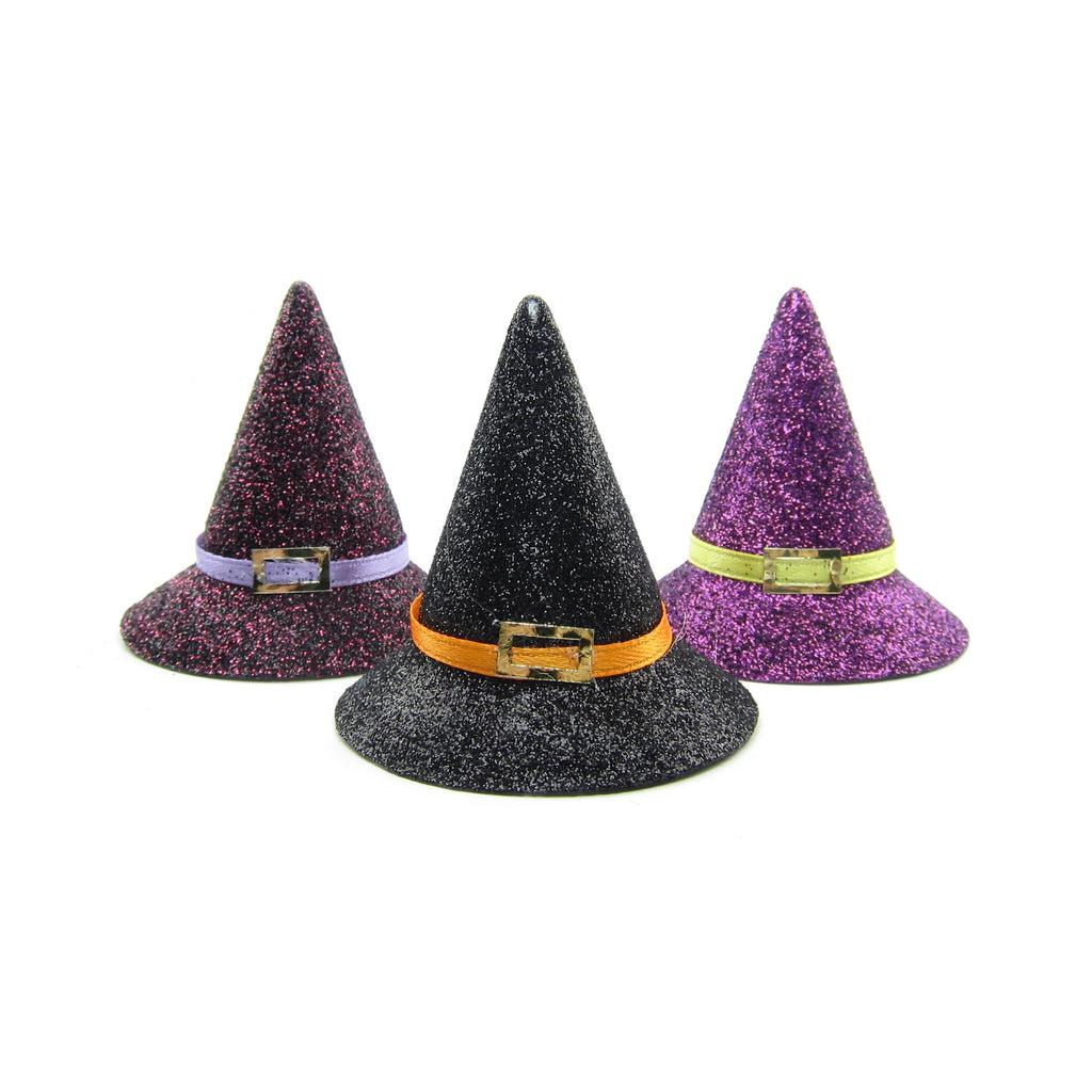 Halloween Witch Hat with Glitter for Playscale Dolls & Crafts
