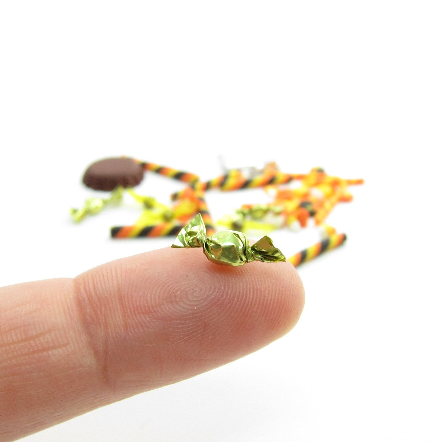 miniature halloween candies polymer clay chocolates candy corn old fashioned candy