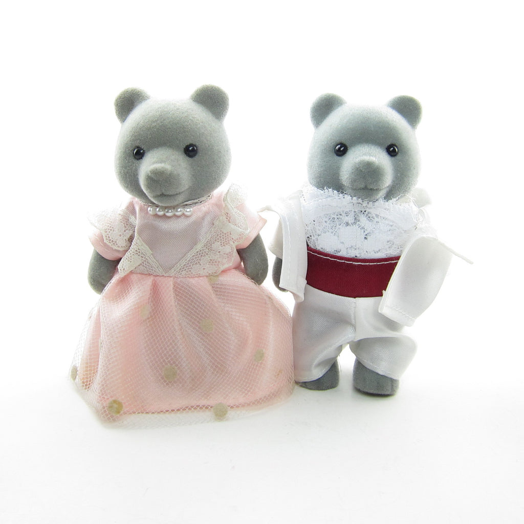 Morris & Kelsey Sweetwater Wedding Grey Bear Sylvanian Families Couple