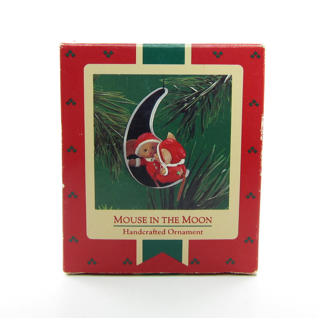 Mouse in the Moon Vintage 1986 1987 Hallmark Keepsake Ornament