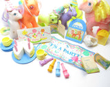 My Little Pony birthday party accessories and ponies