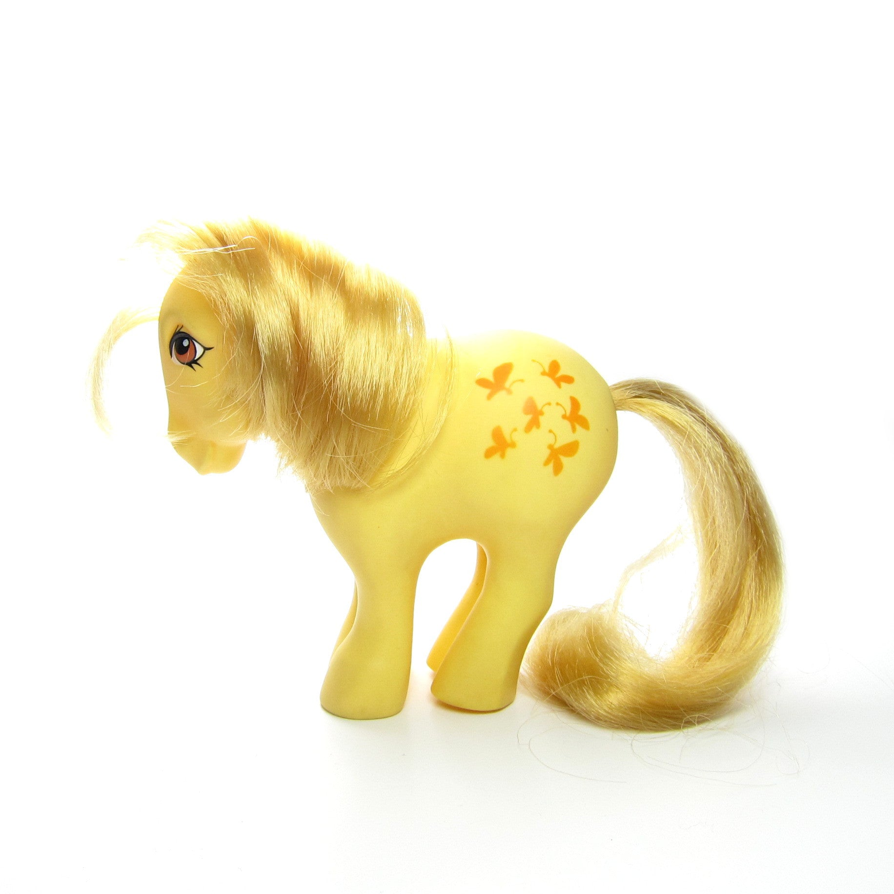 Butterscotch G1 My Little Pony with concave feet
