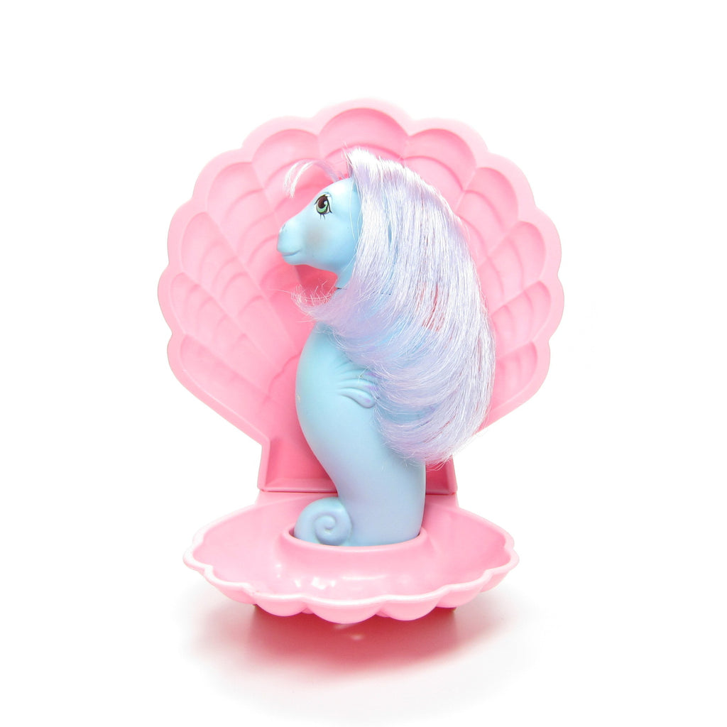 Seawinkle Sea Pony My Little Pony with Pink Clamshell Stand
