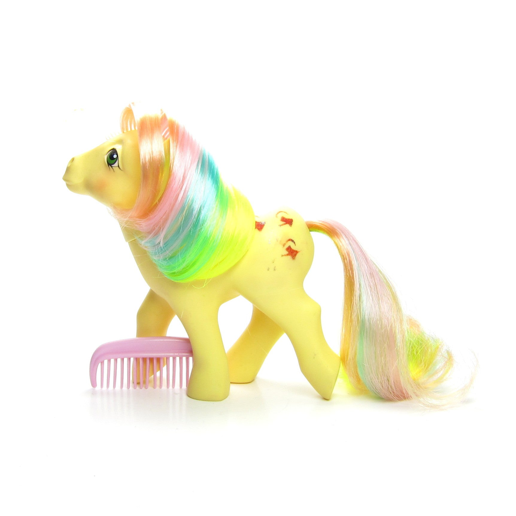 Trickles rainbow pony with pink comb
