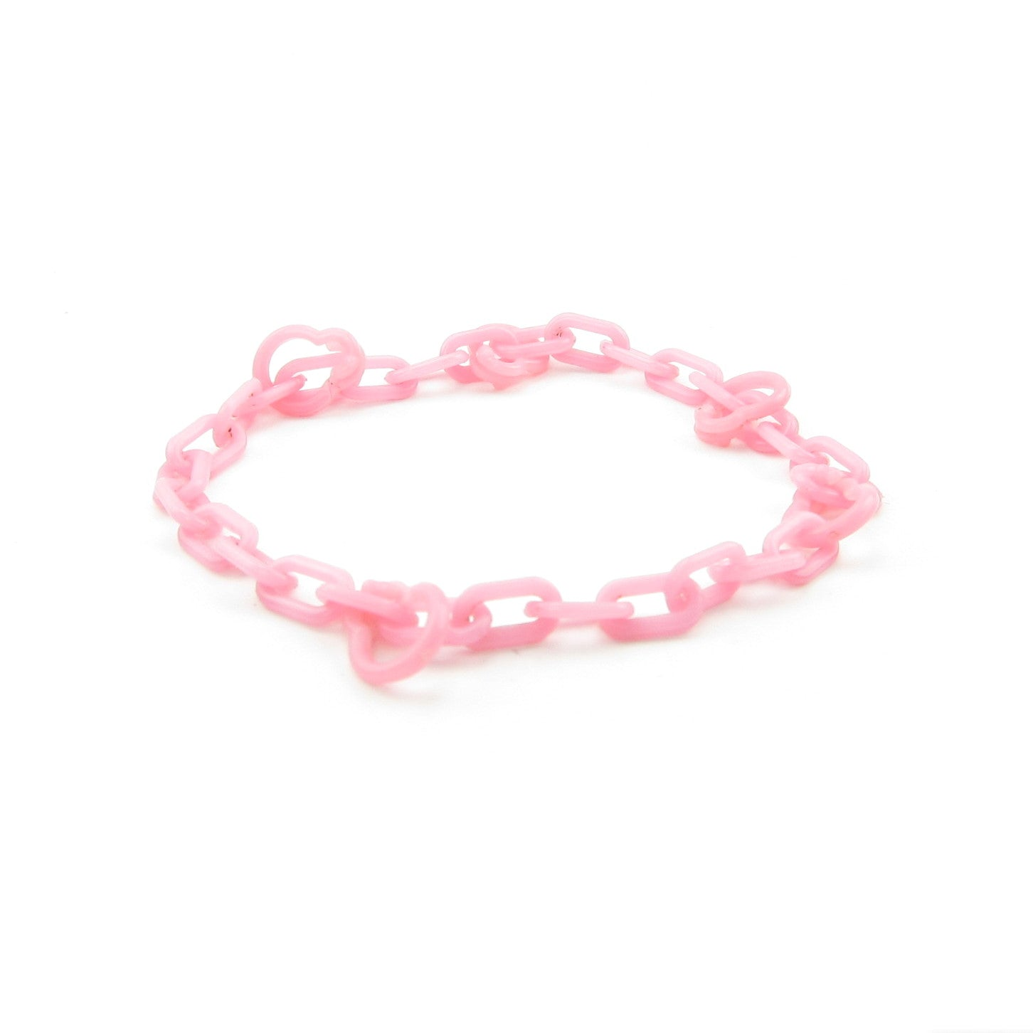 Pink plastic charm bracelet for My Little Pony mommy or mummy charms