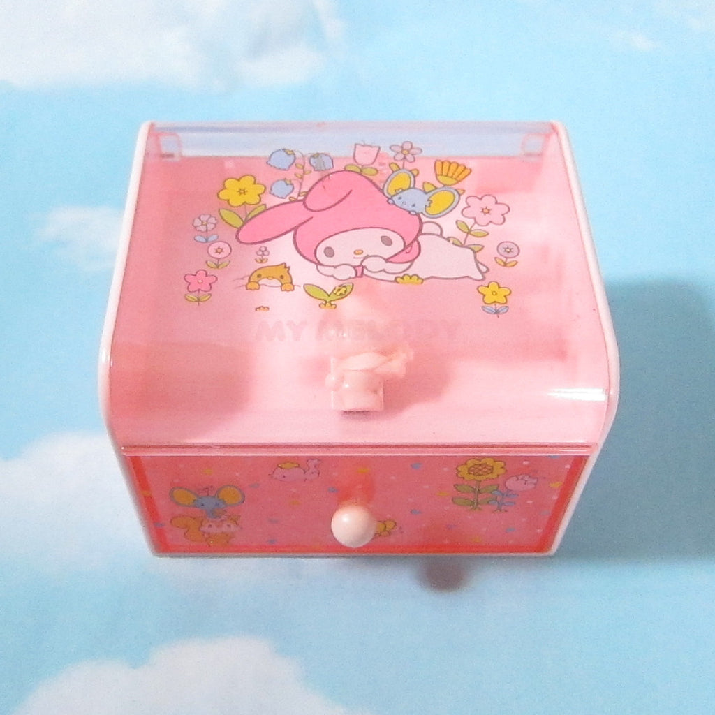 My Melody Notepaper Dispenser Desk Box with Drawer