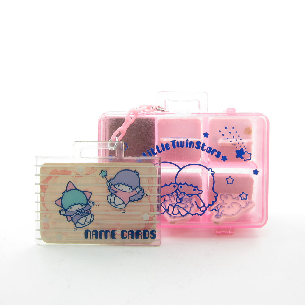 Little Twin Stars Name Cards Ink Stamps in Carry Case